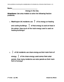 Energy Fraction Problems