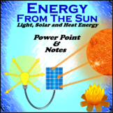 Energy From The Sun (Light, Heat and Solar Energy) Powerpoint and Note-Taker