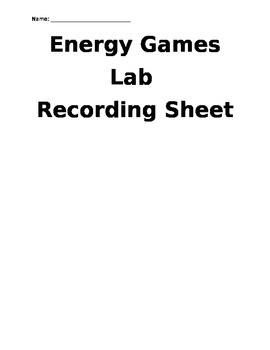 Energy Games Lab Stations
