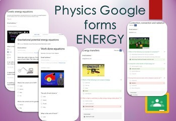 Energy Google forms. Self marking GCSE Physics