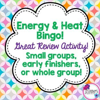 Energy & Heat Bingo Great Review Activity