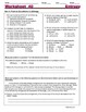 Energy (Heat) Change in Reactions; Exothermic..- Worksheets & Practice Questions