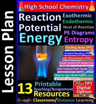 Energy & Heat of Reactions, Exothermic, Entropy: Essential Skills WkSht #38 & 40