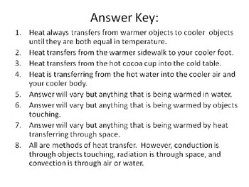 Energy & Heat Transfer Task Cards 5th Grade Common Core 5.P.3 {QR Codes}
