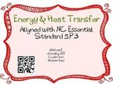Energy & Heat Transfer Task Cards 5th Grade Common Core 5.