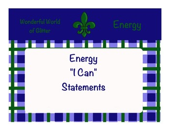 Energy 'I Can' Statements