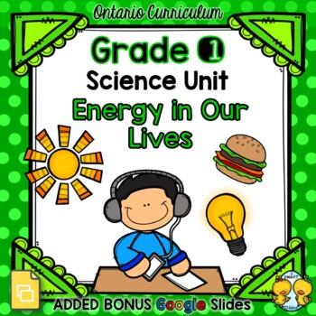 Energy In Our Lives – Grade 1 Science Unit
