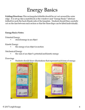 Energy Interactive Lapbook - Forms, Sources, and Transformation of Energy