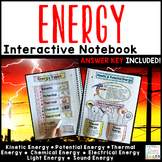 Energy Interactive Notebook | Distance Learning Forms of Energy