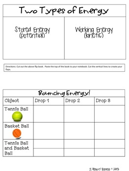 Energy Interactive Notebook and More