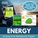 Energy Interactive Notebook Pages - Print and Digital Versions
