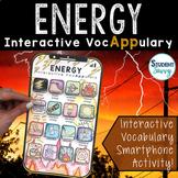 Energy Interactive VocAPPulary - Vocabulary App Activity