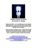 Energy Internet Activities - Earth Science Worksheets