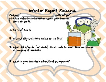 Inventor Report Graphic Organizer