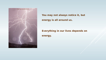 Energy Is Important