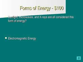 Energy Jeopardy Game PowerPoint