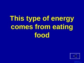 Energy - Jeopardy Review