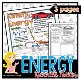 Energy: Kinetic, Gravitational Potential and Conservation of Energy Doodle Notes