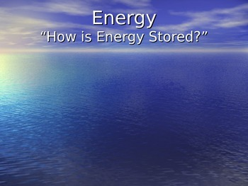 Energy, Lesson 1