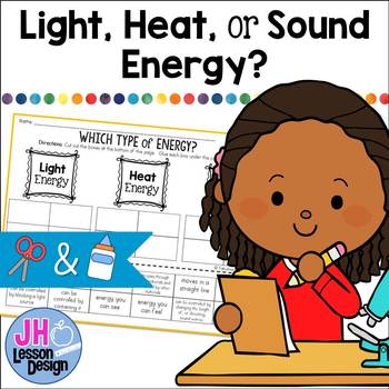Types of Energy: Light, Heat, or Sound?: Cut and Paste Sorting Activity