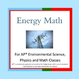 Energy Math Word Problems for AP Environmental Science, Ph