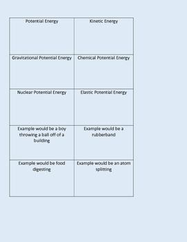 Energy Memory Game