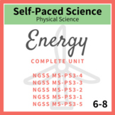 Energy Middle School Complete Unit NGSS  MS-PS3-1, PS3-2,