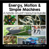 Energy, Motion and Simple Machines Unit: Labs, Articles, Hands-On Tasks, & More!