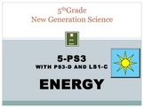 Energy: NGSS 5th Grade: PS-3