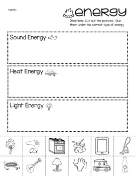 Energy Picture Sort