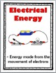 Forms of Energy Science Word Wall Posters - Energy Vocabulary - Types of Energy