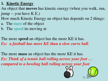 Energy - Potential Energy and Kinetic Energy Power Point