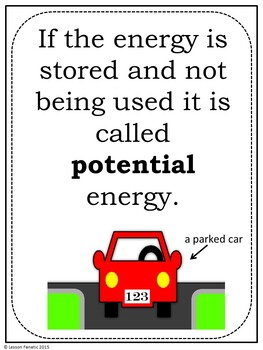 Energy:  Potential/Kinetic, Forms of Energy, Energy Transfer