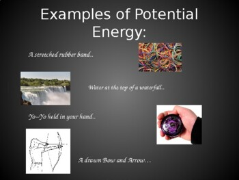 Energy - Potential Kinetic - 28-Slide PowerPoint - Elementary Science Lots of Ex