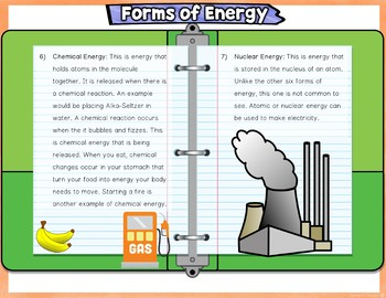 Energy Potential Kinetic and Forms Digital Notebook Activity