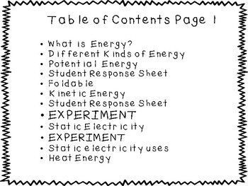 Energy, Potential and Kinetic,  2nd - 3rd Grade Resource