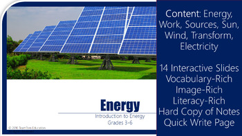 Energy PowerPoint: Introduction to Energy and Work