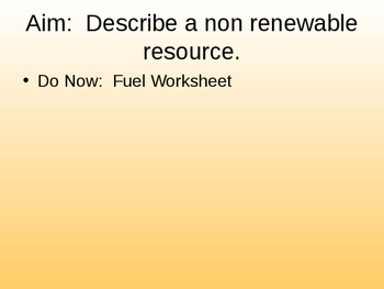 Energy Powerpoint Notes Part 3 of 3