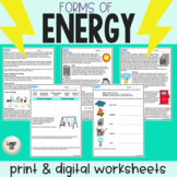 Energy - Guided Practice - Print & Google Versions