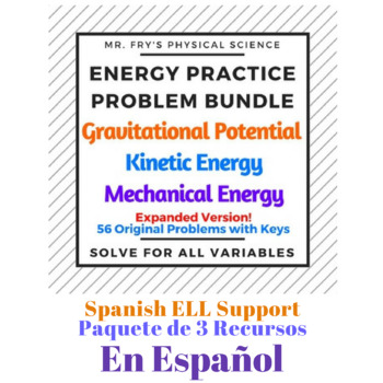 Energy Practice Problem Bundle (Spanish Version) Energía Mecánica