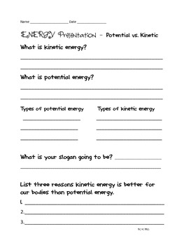 Energy Projects: Sources, Kinetic & Potential {Current Event, Science & Reading}