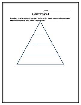 Freebie! Energy Pyramid Activity
