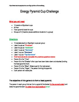 Energy Pyramid Game challenge