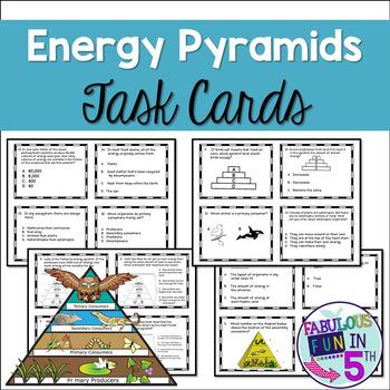 Energy Pyramid Task Cards