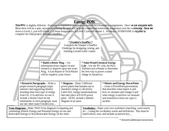 Energy Pyramid of Knowledge - Unit plan for PBL on energy