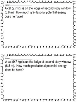 Energy Quick Assessments: Bell Ringer, Warm Ups, Exit Tickets