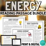 Energy Reading Comprehension Bundle