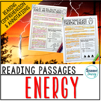 Energy Reading Passages - Questions - Annotations
