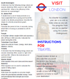 Energy - London Tube Map Activity, answers included (also
