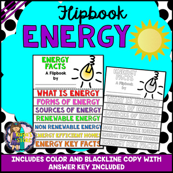 Energy Research Flipbook (Physical Science, Energy Facts, Report Writing)